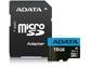 Goedkoopste Adata Premier microSDHC UHS-I Class 10 16GB + SD-adapter