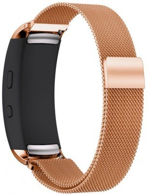 qMust Milanees armband voor Samsung Gear Fit 2 - Rose Gold