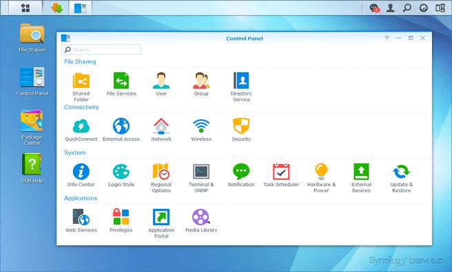 Synology Disk Station Manager 5.0 screenshot