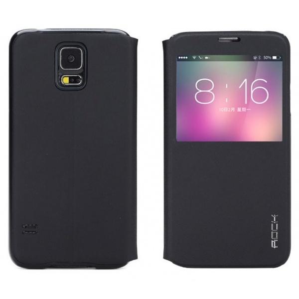 Rock S View Window Leather Case Samsung Galaxy S5 (UNI Serie black)
