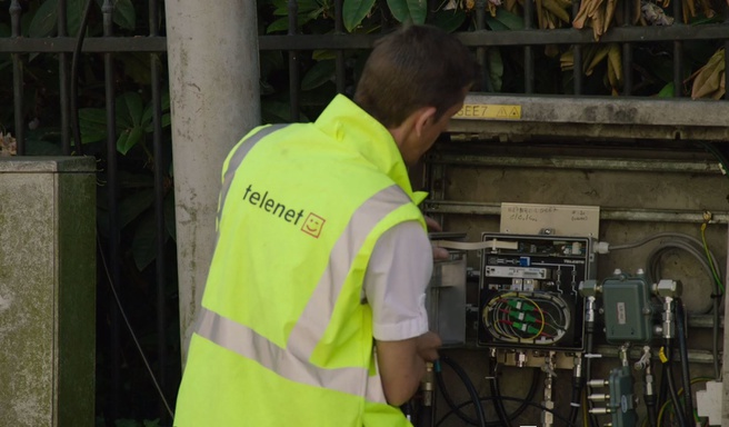 Werkzaamheden wijkkast Telenet