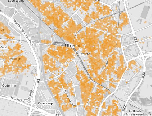 Ziggo-hotspots in Utrecht
