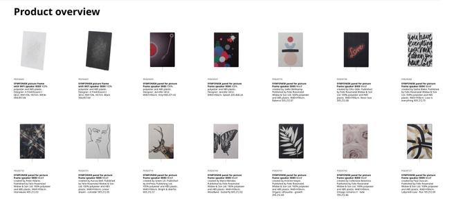 Ikea Symfonisk Schilderijlijst - alle panelen