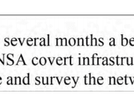 NSA Tradecraft