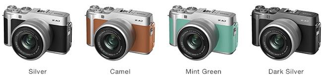 Fujifilm X-A7 kleuren