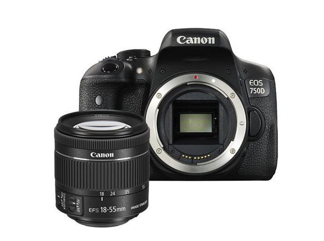 Canon EOS 750D + 18-55mm F/4-5.6 iS STM Zwart