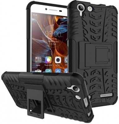 qMust Lenovo K5 Rugged Hybrid Case - Dual Protection - Black