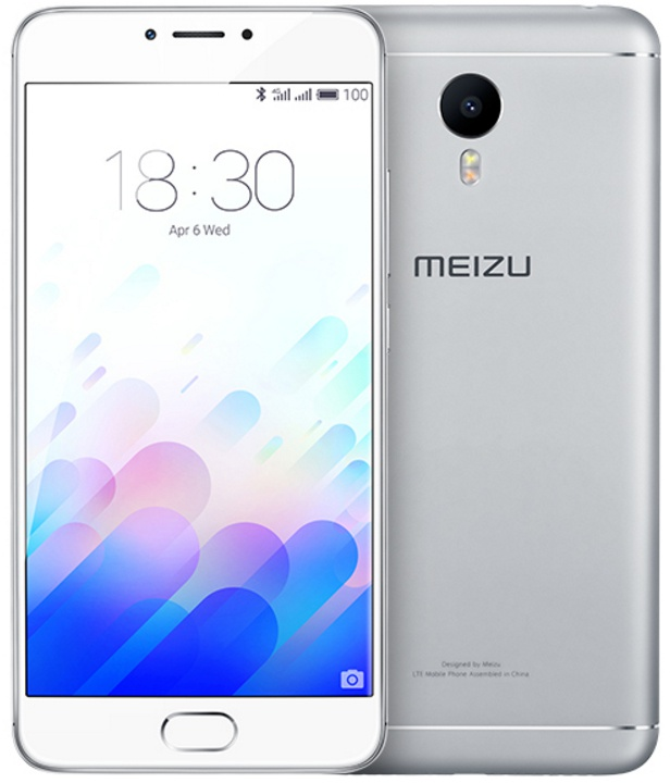 Meizu M3 Note 2GB intern, 16GB opslag Wit, Zilver