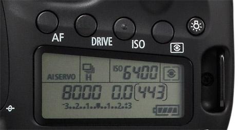 Canon EOS 60D top-lcd plattere knopjes