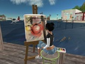 Second Life - Schilderen in de haven