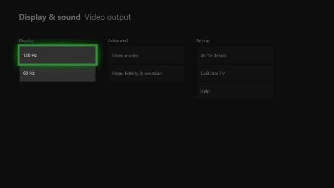 Xbox One 120Hz