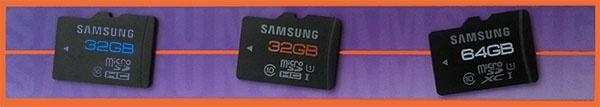MicroSD op een rij