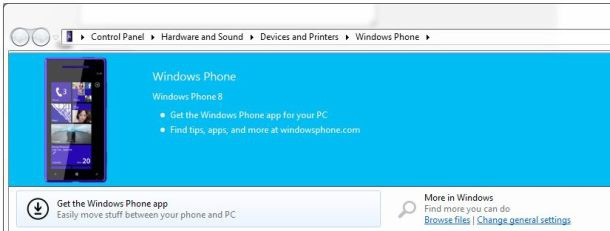 WP8 in Windows Verkenner