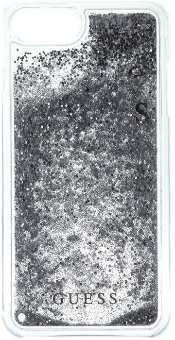 Guess Liquid Glitter Case - Apple iPhone 7 Plus (5.5'') - Zilver