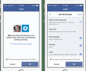Nieuwe login Facebook - 2014