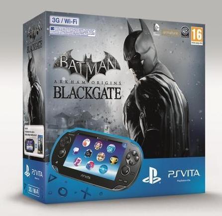 Sony PlayStation Vita 3G + Batman: Arkham Origins Blackgate + 4GB Zwart