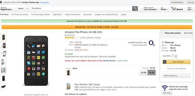 Amazon Fire Phone aanbieding