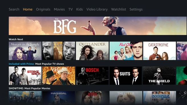Amazon Prime Video voor Android TV