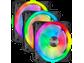 Goedkoopste Corsair iCUE QL120 RGB PWM Triple Fan Zwart with Lighting Node CORE, 120mm