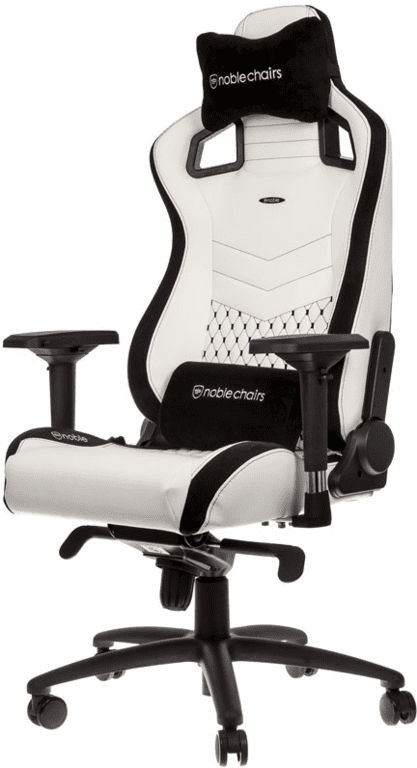 Noblechairs EPIC Gaming Chair (Wit/Zwart)