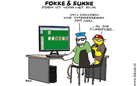 Fokke & Sukke doen ICT voor het rijk | (c) Foksuk.nl