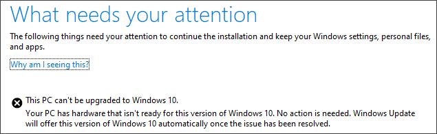 Foutmelding Windows 10 May 2019 Update