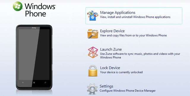 Windows Phone 7 Device Manager