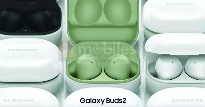 Samsung Galaxy Buds2-renders via 91Mobiles