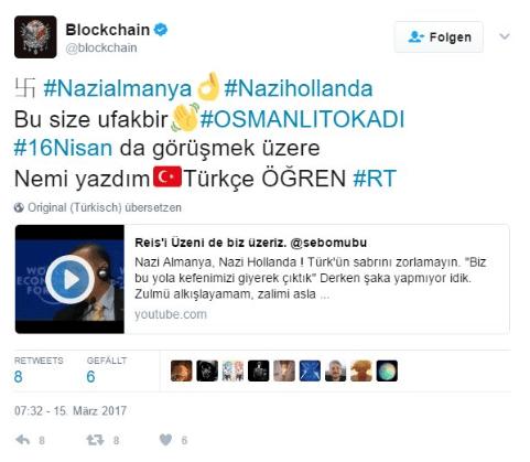 Twitter account blockchain