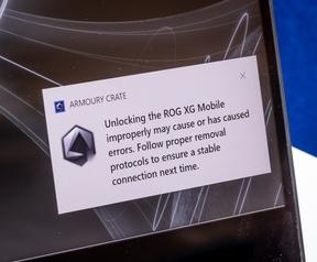 ROG XG Mobile - Niet veilig verwijderen