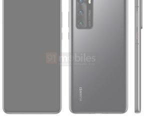 Vermoedelijke Huawei P40. Bron: 91Mobiles
