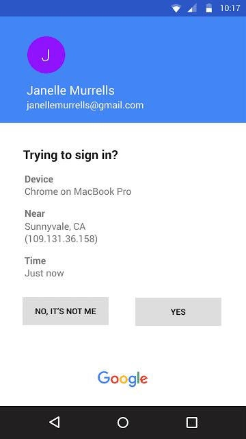 Google prompt 2fa