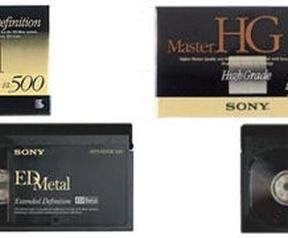 Sony Betamax- & Micro MV-tapes