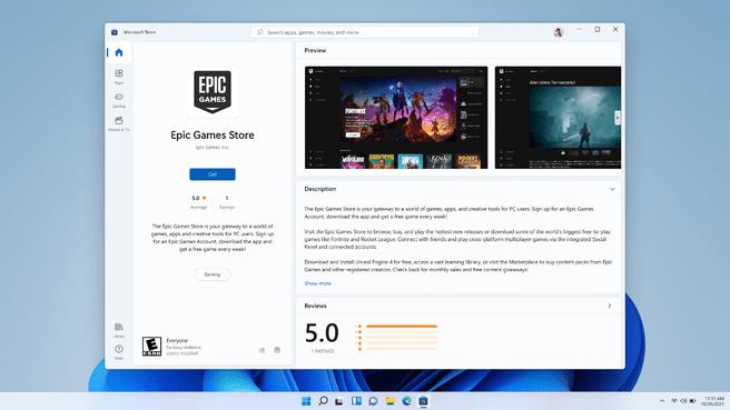 Toko Epic Games di Microsoft Store