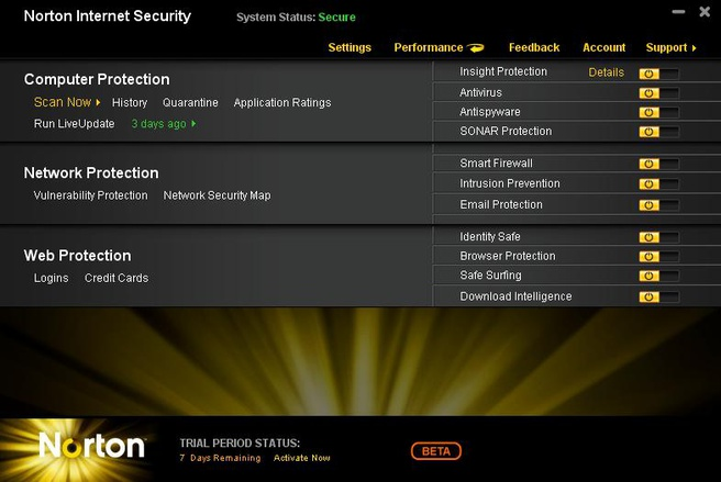 Norton Antivirus 2011 and Internet Security 2011 offers.