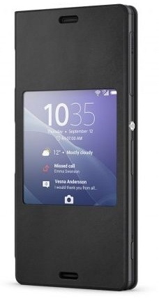 Sony Xperia Smart Style-Up Cover Xperia Z3 Compact (Black) SCR26 voor Xperia Z3 Compact