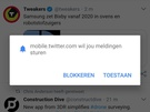 Pwa Twitter in Android 7.0, Chrome 66