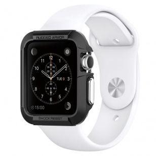 Spigen Rugged Armor Apple Watch (42mm) Case - SGP11496 - Black