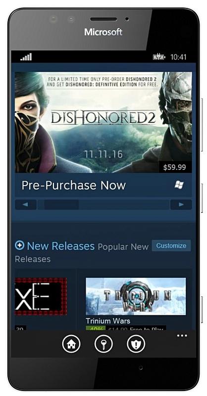 Valve brengt Steam app uit voor Windows 10 Mobile en Windows