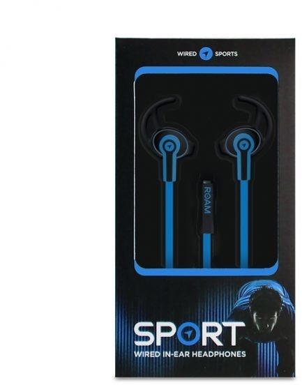 Roam Headphones Sport Wired In-Ear (Blauw, Zwart)