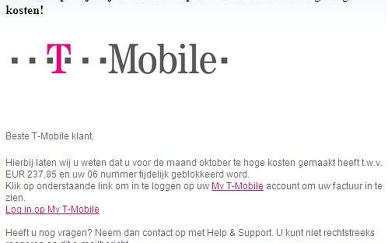 phishing 2013 T-Mobile KPN