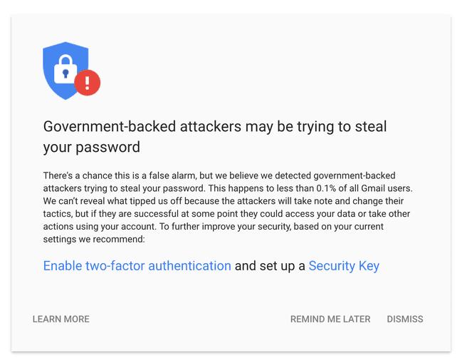 google-waarschuwing