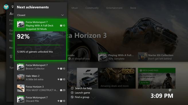 Xbox Closest Achievements