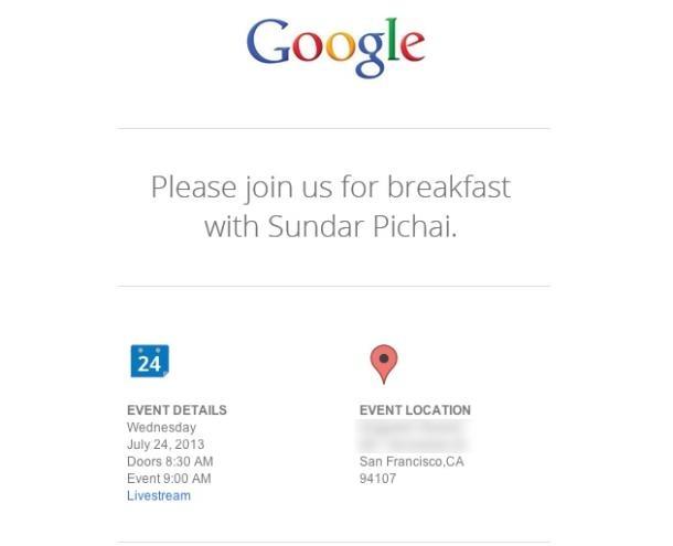 Google-uitnodiging