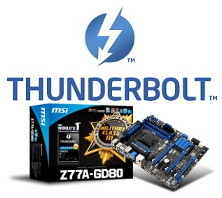 MSI Z77A-GD80-moederbord met Thunderbolt