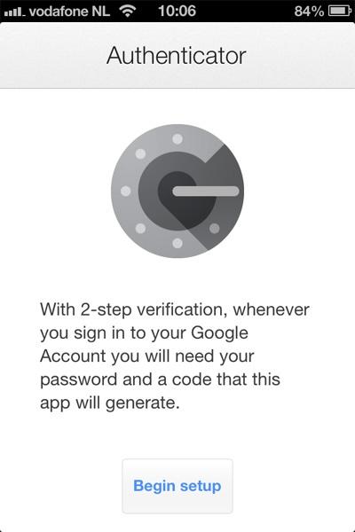 Google Authenticator oepsie