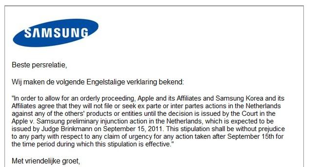 Samsung-Apple statement