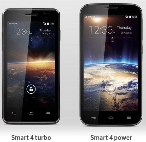 Vodafone Smart 4 Power en Turbo