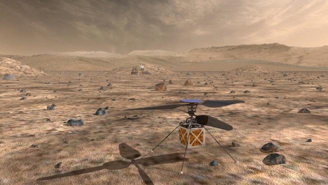 NASA-drone op Mars