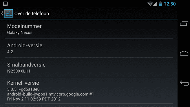 Android 4.2 op Galaxy Nexus